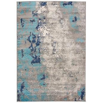 Dywan Nowoczesny Abstrakcyjny Szary Turkusowy Spring 57289 70 x 300 cm