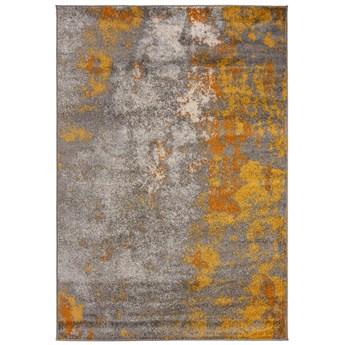 Dywan Nowoczesny Abstrakcyjny Szary Złoty Spring 57300 70 x 200 cm