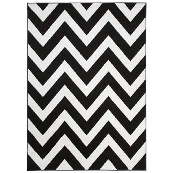 Dywan Nowoczesny Geometryczny Czarno Biały Bali 60579 250 x 300 cm