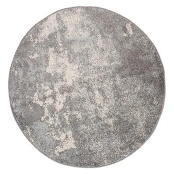 Dywan Okrągły Nowoczesny Szary Spring 60924 160 x 160 cm