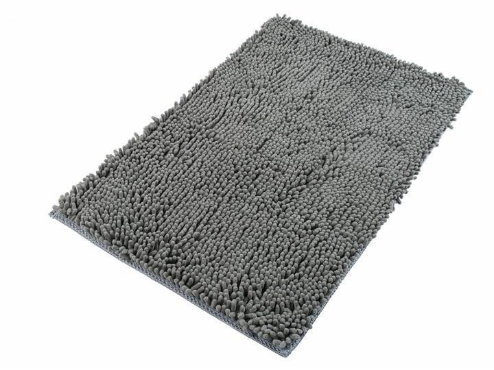 Dywanik Łazienkowy Mikrofibra Szary CHENILLE 62454 70 x 150 cm 70x150 cm Kategoria Dywaniki łazienkowe
