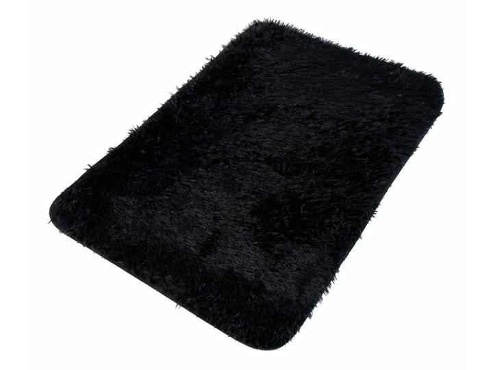 Dywanik Łazienkowy Poliester Czarny Silk 62469 70 x 150 cm 70x150 cm Kategoria Dywaniki łazienkowe