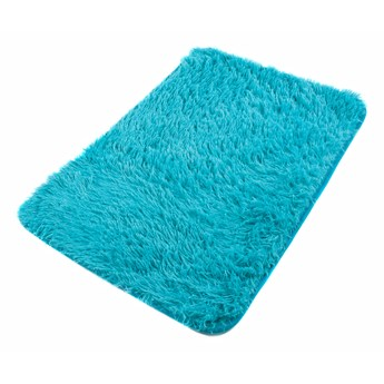 Dywanik Łazienkowy Poliester Niebieski Silk 62470 70 x 150 cm