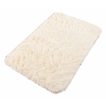 Dywanik Łazienkowy Poliester Biały Silk 62473 70 x 150 cm