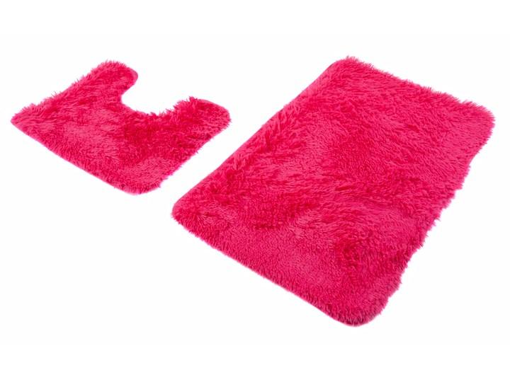 Dywanik Łazienkowy 2 częściowy Poliester Różowy SILK 62521 70 x 150 cm 70x150 cm Kategoria Dywaniki łazienkowe