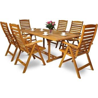 Meblobranie Drewniane meble obiadowe do ogrodu ze składanymi krzesłami 200SR/511K