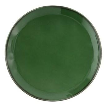 Talerz obiadowy DUKA REGNSKOGEN 28 cm zielony fajans