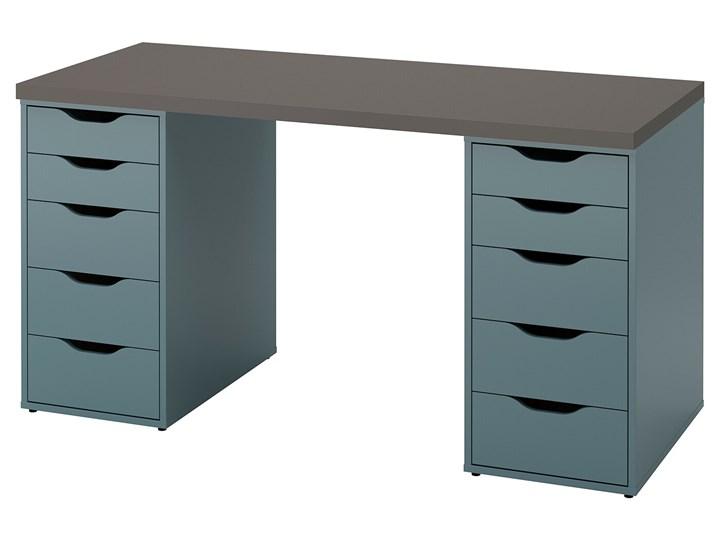 IKEA LAGKAPTEN / ALEX Biurko, Szary/turkusowy, 140x60 cm