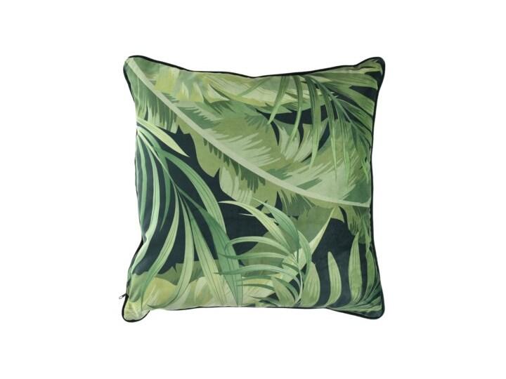 Poduszka kwadratowa tropikalna DUKA EKVATOR 50x50 cm zielona welurowa Poliester Poduszka dekoracyjna Kwadratowe Kolor Zielony