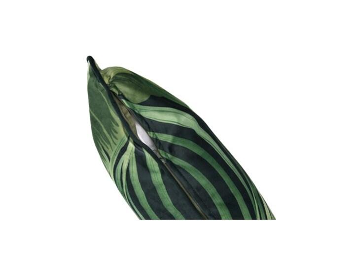 Poduszka kwadratowa tropikalna DUKA EKVATOR 50x50 cm zielona welurowa Poliester Kwadratowe Poduszka dekoracyjna Kolor Zielony Kategoria Poduszki i poszewki dekoracyjne