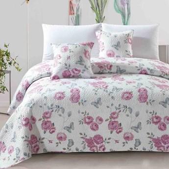 Narzuta na łóżko róże