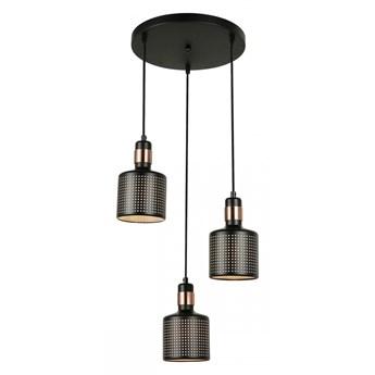 RESTENZA 3 lampa wisząca 3 x 40W E27 sufitowa nowoczesna prosta czarna metalowa ITALUX PND-2439-3-BK