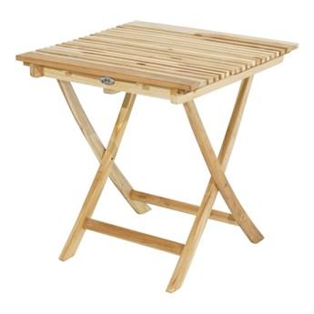 Stół kwadratowy skłądany z drewan teak ECO MILFORD 70x70 cm   sklep Dekkor
