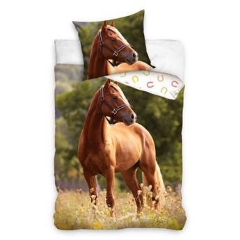 Pościel bawełniana 140x200 Animals Koń Mustang, Carbotex