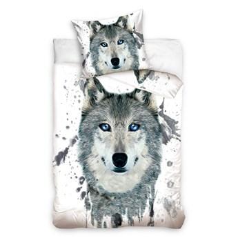 Pościel bawełniana 140x200 Animals Wilk 3D, Carbotex