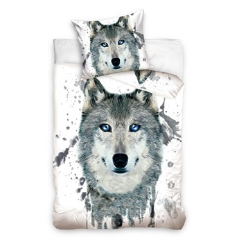 Pościel bawełniana 160x200 Animals Wilk 3D, Carbotex (1)