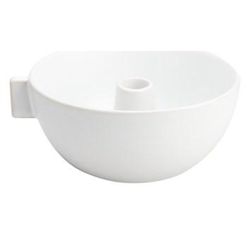 ERNST - Biały kamionkowy świecznik M