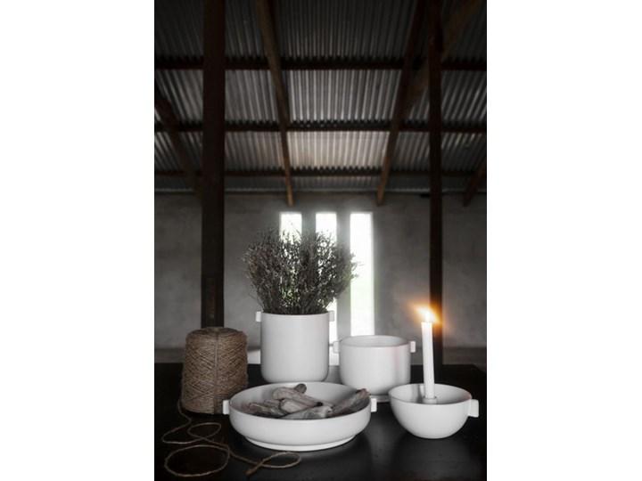 ERNST - Biały kamionkowy świecznik M Kamionka Kategoria Świeczniki i świece