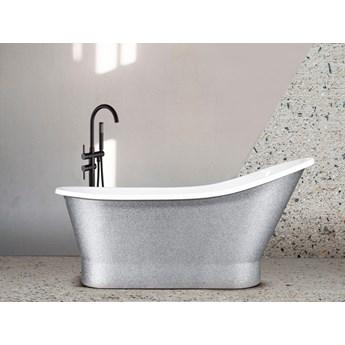 Wanna wolnostojąca Gloria Glam, 150x66 cm, biała/srebrna