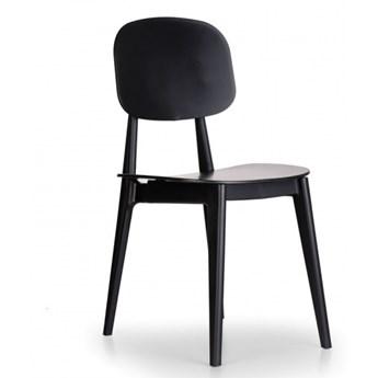 Plastikowe krzesło do jadalni SIMPLY, czarne, 4 sztuki