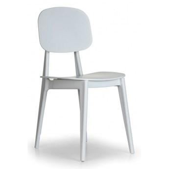 Plastikowe krzesło do jadalni SIMPLY, białe, 4 sztuki