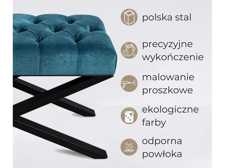 Ławka Pikowana do przedpokoju Industrialna SHELF SORENTO Styl Industrialny Materiał obicia Tkanina