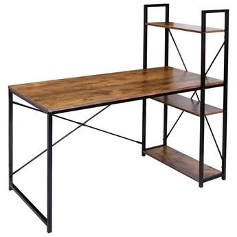 Biurko loftowe z półkami industrialne loftowe Trosa
