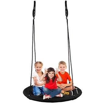 Huśtawka ogrodowa dla dzieci bocianie gniazdo 120 cm czarna
