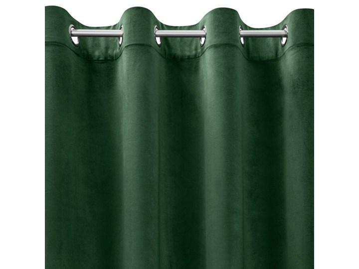 Zasłona Welwetowa Melanie 135x250cm - Ciemny Zielony - Przelotki 135x250 cm Poliester Bawełna 140x250 cm Mocowanie Kółka