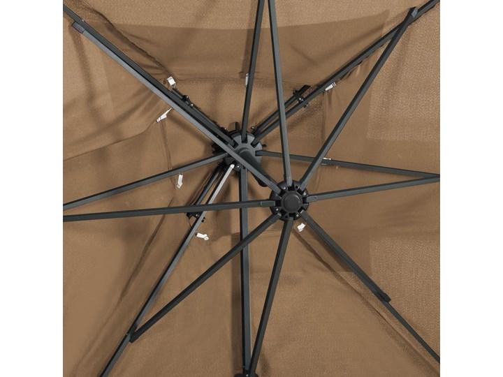 vidaXL Parasol wiszący z podwójną czaszą, 250x250 cm, kolor taupe Kategoria Parasole ogrodowe