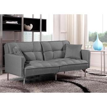 Sofa pikowana rozkładana Barton - popiel