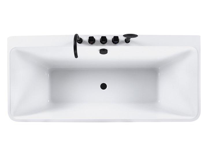 Wanna biała akrylowa 170 x 75 cm przyścienna prostokątna nowoczesny design Symetryczne Kolor Biały