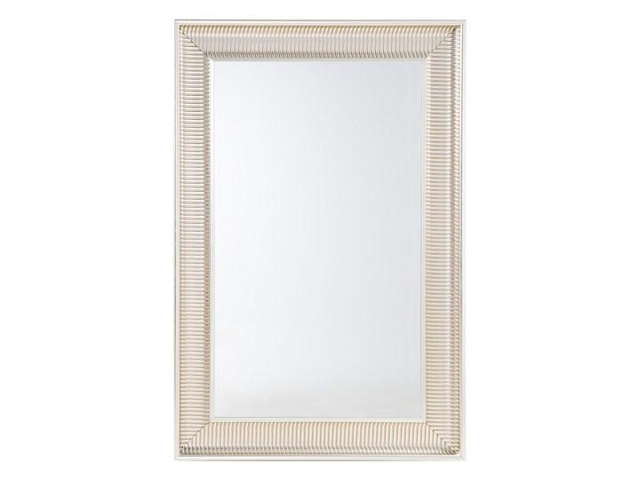 Lustro wiszące złote 60 x 90 cm syntetyczna rama styl nowoczesny glam Ścienne Prostokątne Lustro z ramą Pomieszczenie Sypialnia
