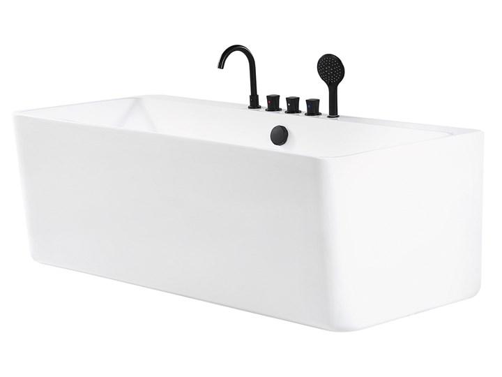 Wanna biała akrylowa 170 x 75 cm przyścienna prostokątna nowoczesny design