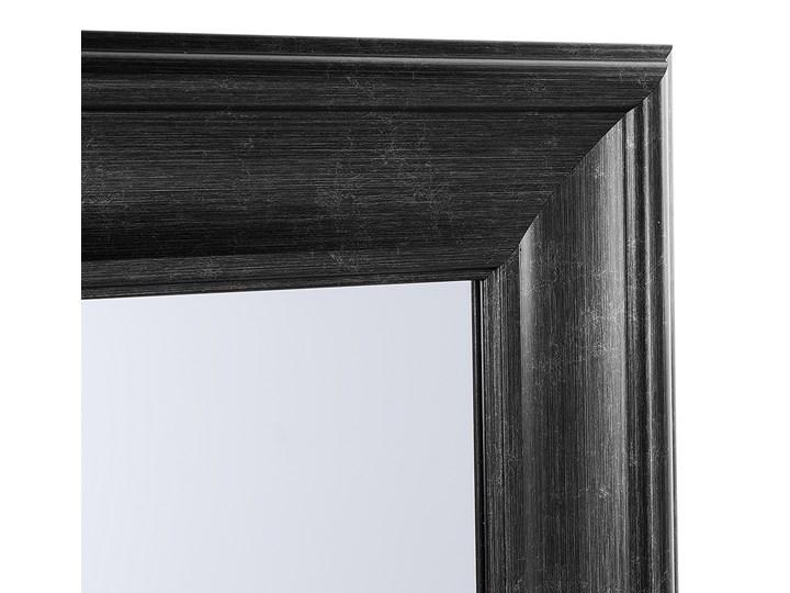 Lustro ścienne wiszące czarne 51 x 141 cm syntetyczna rama styl skandynawski minimalistyczny Pomieszczenie Salon Prostokątne Kolor Czarny