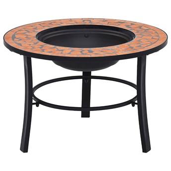 Okrągłe dekoracyjne palenisko ogrodowe terakota - Nodis