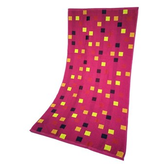 Ręcznik Plażowy Geo Różowy 70x140 Greno