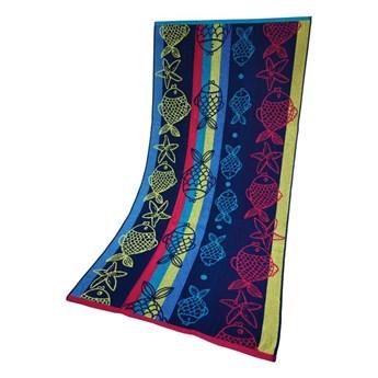 Ręcznik Plażowy Rybki Niebieski 70x140 Greno