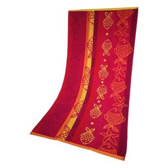 Ręcznik Plażowy Rybki Różowy 70x140 Greno