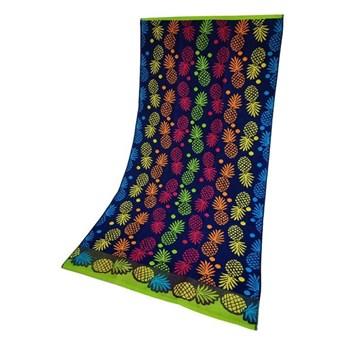 Ręcznik Plażowy Ananas Niebieski 70x140 Greno