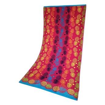 Ręcznik Plażowy Ananas Różowy 70x140 Greno