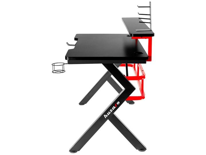 Biurko Gamingowe Huzaro Hero 5.0 Red Stal Głębokość 60 cm Biurko z nadstawką Aluminium Szerokość 120 cm Kategoria Biurka