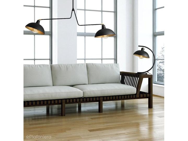 Czarna industrialna - loftowa lampa stojąca (biurkowa 1xE27) Aldex (Espace) 1036B1 Lampa biurkowa Lampa z kloszem Wysokość 40 cm Styl Industrialny