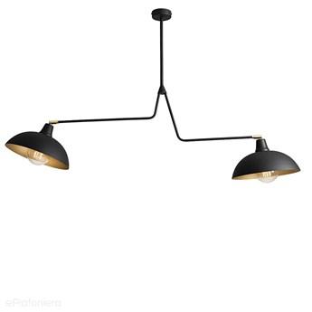 Czarna industrialna - loftowa lampa wisząca (żyrandol 2xE27) Aldex (Espace) 1036H1