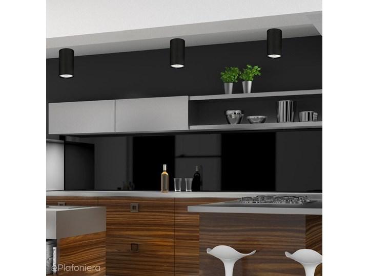 Lampa sufitowa natynkowa LED - czarna tuba 1xGU10, Aldex (Ares) 1043PL/G1 Oprawa schodowa Oprawa led Okrągłe Kolor Czarny Oprawa stropowa Kategoria Oprawy oświetleniowe