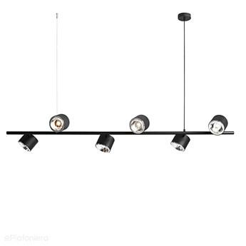 Czarna lampa - spot sufitowa, wisząca (regulowana, ustawna 6xAR111) Aldex (Bot)1047K