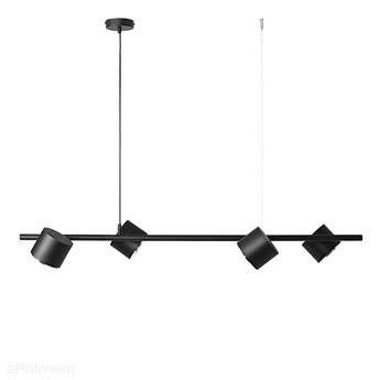 Czarna lampa - spot sufitowa, wisząca (regulowana, ustawna 4xAR111) Aldex (Bot)1047L