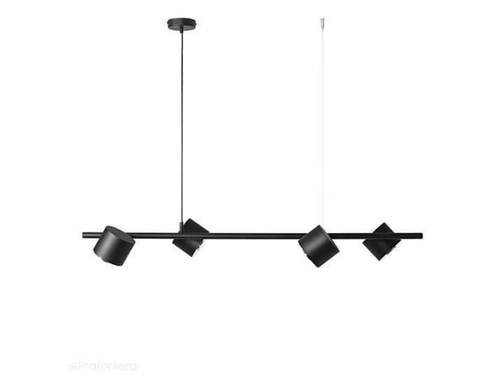Czarna lampa - spot sufitowa, wisząca (regulowana, ustawna 4xAR111) Aldex (Bot)1047L Metal Styl Industrialny Pomieszczenie Kuchnia