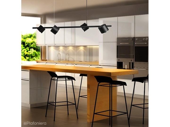 Czarna lampa - spot sufitowa, wisząca (regulowana, ustawna 4xAR111) Aldex (Bot)1047L Metal Pomieszczenie Salon