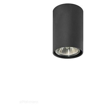 Tuba - SPOT, czarna lampa sufitowa halogenowa do kuchni salonu (1x GU10) Lampex (Simba) 483/G